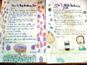 Our illustrated Blackberry Pick recipe cards